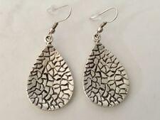 Silver Teardrop Earrings Ottoman Turkish Ethnic Tribal Gypsy Boho Tear Drop