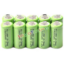 10x Ni-mh 1.2 v 2/3aa 1800mah batería Recargable Ni-mh Pilas Para Teléfono De Juguete