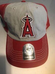 Los Angeles Angels 47 Brand MLB Kids Clean Up Hat