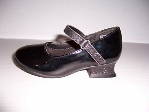 LUCKY STAR VICTORIA TODDLER GIRL'S BLACK PATENT STRAP HEELS SHOES SIZE 9 NEW!