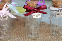 Wedding Party Table Favours Personalised High Quality Glass Bottle Gift & Charm