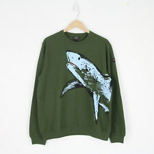Mens New Paul & Shark Yachting Green Shark Logo Jumper Sweater L Sweatshirt BNWT