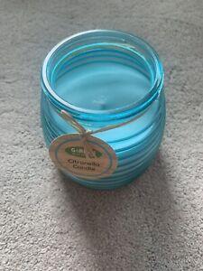 Aqua citrinello Garden Candle In jar