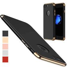 coque antichocs noir luxueuse aspect rigide contour doré Apple iPhone 7