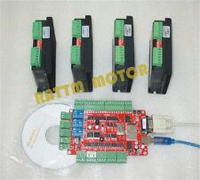 4 Axis USBCNC Breakout Board+4pcs CW5045 4.5A 50VDC Driver CNC Controller Kit