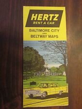 Hertz Rent A Car Baltimore City and Beltway Maps 1963