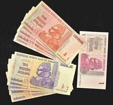 11 Zimbabwe banknotes-5 x 5 &10 Billion+1 dollar-paper money currency