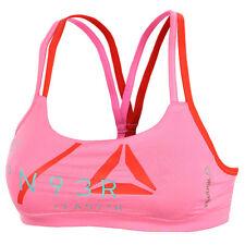 Reebok Sports Bra Vest Top Pink Ladies Womens Running Gym Training Fitness XXS