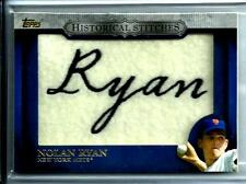 2012 Topps Historical Stiches Nolan Ryan #HS-NR Reflection/Rookie New York Mets