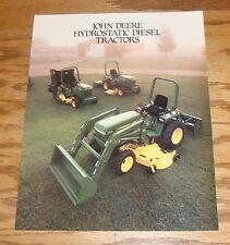 Original 1986 John Deere Hydrostatic Diesel Tractor Sales Brochure 655 755 855