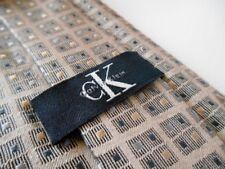 Calvin Klein Brown Checked 100% Silk Tie