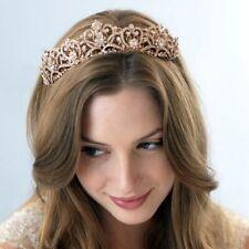Bridal rose gold crystal tiara