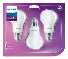 3x PHILIPS LED Lampe Birne Leuchtmittel Lampe E27 8W wie 60W Warmweiß matt R2.11