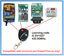 Spare Remote Control Learning code 433.92MHz. (For receivers purchased from us)