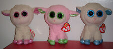 "Ty Beanie Boos Set - Olga, Daria & Leyla Europe Exclusive Lamb / Sheep~ 6"" ~ New"