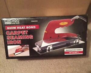 800W Heat Bond Carpet Seaming Iron Low Profile DesignThermostat Nonstick Teflon