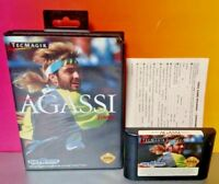 Andre Agassi Tennis - Sega Genesis Rare Game Tested Box 1 - 2 Players