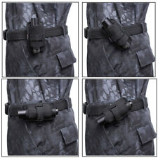 360 Rotating UltraFire Flashlight Holster Rotate Belt Clip Nylon Torch Pouch Bag