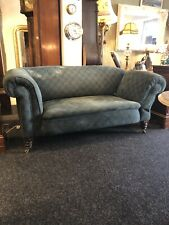 Antique English Victorian Drop Arm Country House Sofa Original Upholstery