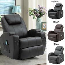 Massagesessel Fernsehsessel Relaxsessel Wärmefunktion 360°drehbar Polstersessel
