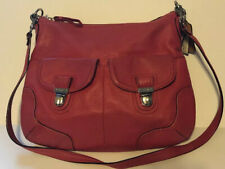 Coach 22423 Poppy Avery Pebble Leather Hobo Crossbody Shoulder Bag Rose