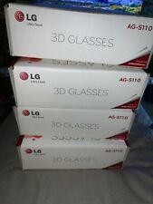 4 pair Lg 3d glasses AG-S110 active shutter with charger