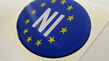 NI Northern Ireland Resin Domed 3D Car Badge Sticker Irish EU