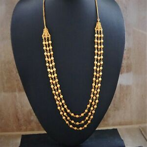 Long Necklace 22K Gold Plated Kapa Jewelry for Women gold chain Indian