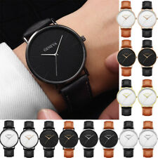 Luxury Mens Leather Business Dress Watch Military Casual Analog Wrist Watches UK