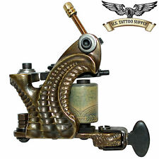 Custom Carved Brass Marvel Tattoo Machine with Free 11 Mag Combo Needle 10pk