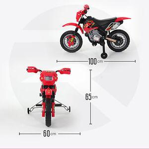 RiiRoo Kids Ride On Motocross Bike Scrambler Motorbike Electric 6V Battery Power