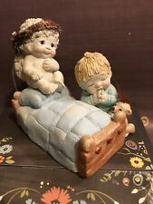 """Dreamsicles """"A Child's Prayer� Boy with Bear, Cast Art, Made in Mexico, 1995"""
