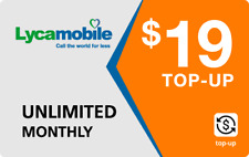 Lyca Mobile  Prepaid $19 Refill Top-Up Prepaid Card ,PIN / RECHARGE