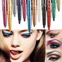 12 Color Pro Charm Waterproof Eye Shadow Lip Liner Eyeliner Pen Pencil Makeup FT