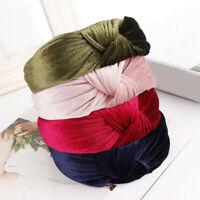 Womens Headband Velvet Knot Cross Tie Headwrap Hair Band Hoop Decor Accessories