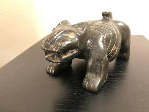 Rare Pre-Columbian Aztec Jade Stone Museum Quality Mayan Artifact