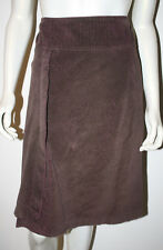 ADOLFO DOMINGUEZ Brown Pink Corduroy Skirt 44 10 12 Asymmetric Hem