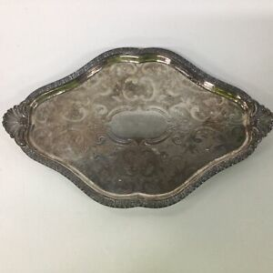 Ehp Chased Made in Sheffield Fp Copper Silver Plate Tray #404