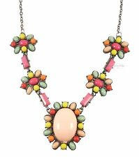 Quirky Kitsch Colourful Candy Bead Pink Green Purple Necklace