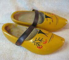 Vintage Wooden Wood Carved Clogs Shoes 25cm Holland Dutch (7.5 - 8) Us