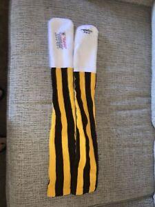 Denver Broncos Reebok AFL NFL Football Team Issued Game Knee High Socks Size