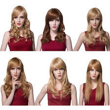 Women's Human Hair Long Straight Wigs & Hairpieces