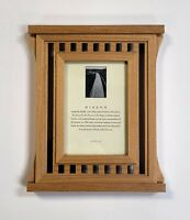 Vintage FETCO International Mission Style Wood Picture Frame Holds 3.5x5 Picture