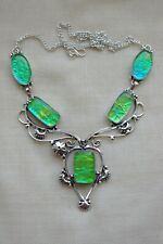 HANDMADE Fancy Dichroic Glass NECKLACE - Gorgeous,Beautiful,HighQuality 19 1/2''