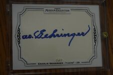 2012 Topps Museum Collection Cut Signature CHARLIE GEHRINGER Tigers HOF Auto 1/1