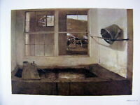 Andrew Wyeth Gravure Print SPRING FED & YOUNG BULL, Kuerner's