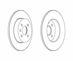 2 St. FERODO Bremsscheibe PREMIER Coat+ disc DDF1313C