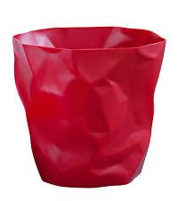 Essey Bin Bin Waste Basket - Red - Designed to Look Like Crumpled Paper