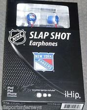 NIP NHL TEAM LOGO EARPHONES - NEW YORK RANGERS