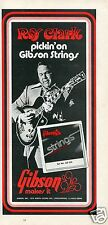 1973 Gibson Guitar Strings Roy Clark Print Ad